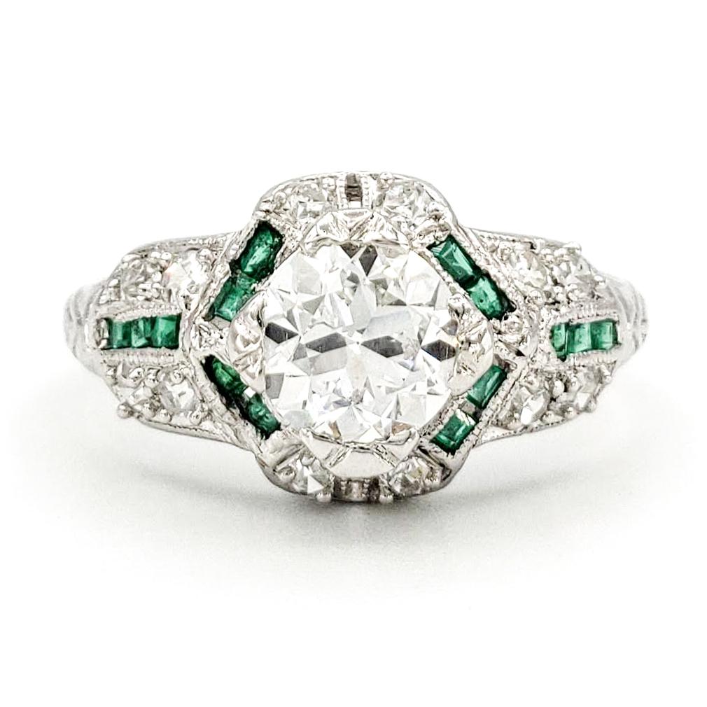 vintage-platinum-engagement-ring-with-0-75-carat-old-european-cut-diamond-egl-e-si1