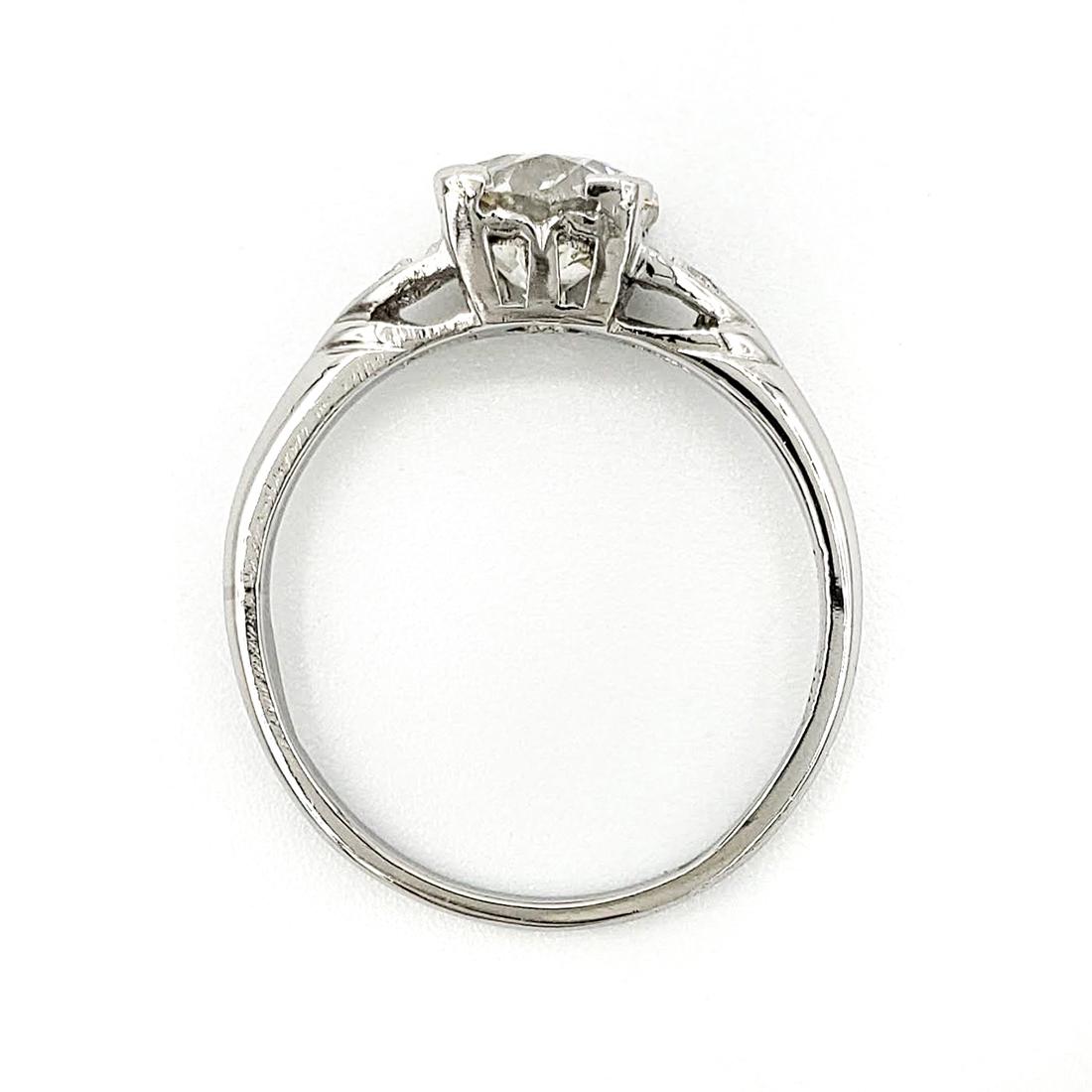 vintage-platinum-engagement-ring-with-1-11-carat-old-european-cut-diamond-egl-i-vs2