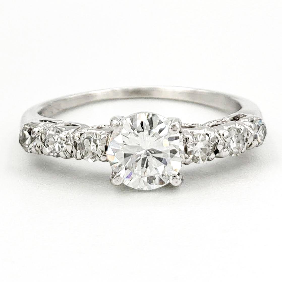 vintage-platinum-engagement-ring-with-0-55-carat-round-brilliant-cut-diamond-egl-d-vs1