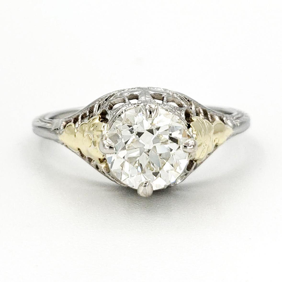 vintage-14-karat-gold-engagement-ring-with-0-94-carat-old-european-cut-diamond-egl-j-vs2