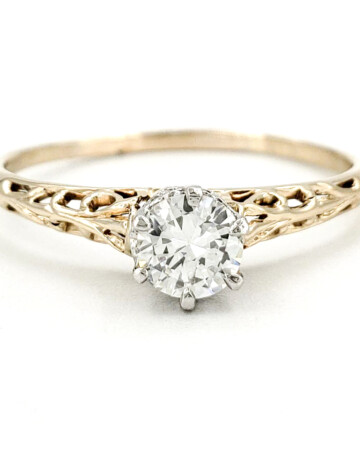 vintage-14-karat-gold-engagement-ring-with-0-39-carat-old-european-cut-diamond-egl-g-vs2