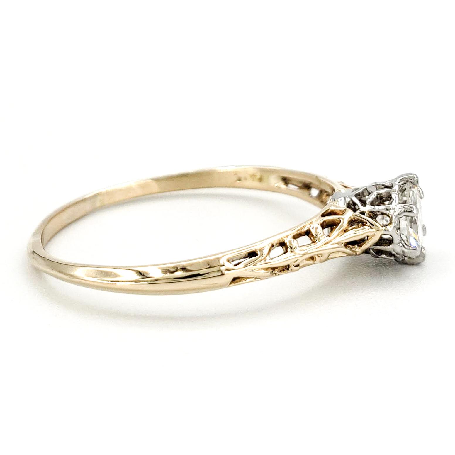 vintage-14-karat-gold-engagement-ring-with-0-39-carat-old-european-cut-diamond-egl-g-vs2