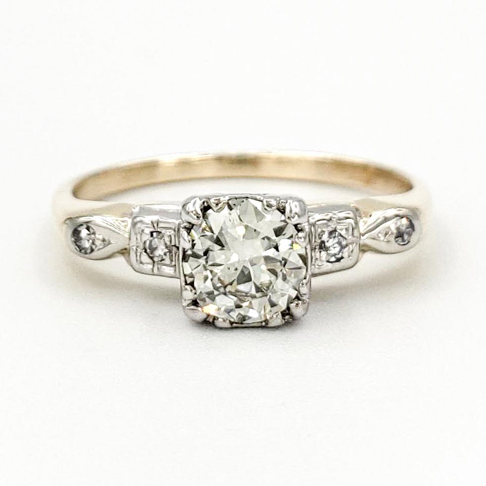 vintage-14-karat-gold-engagement-ring-with-0-50-carat-transitional-cut-diamond-egl-l-si1