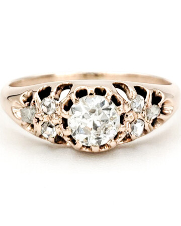vintage-10-karat-gold-engagement-ring-with-0-45-carat-old-european-cut-diamond