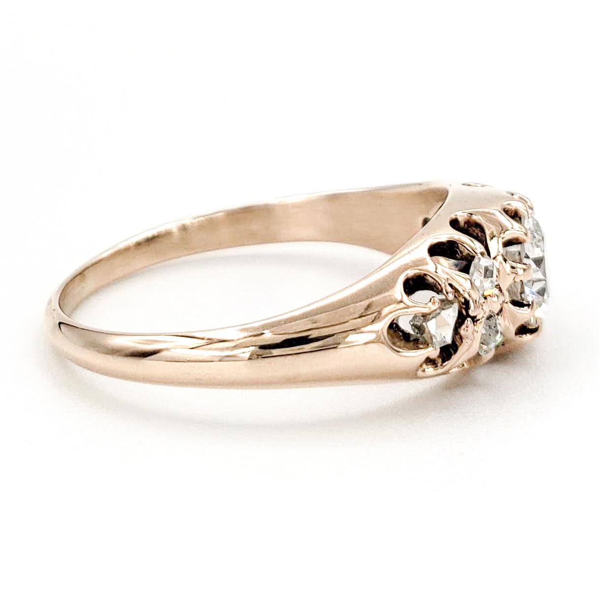 vintage-10-karat-gold-engagement-ring-with-0-45-carat-old-european-cut-diamond