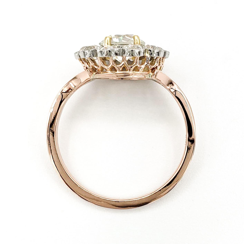 vintage-18-karat-gold-engagement-ring-with-0-94-carat-old-european-cut-diamond-egl-h-si1