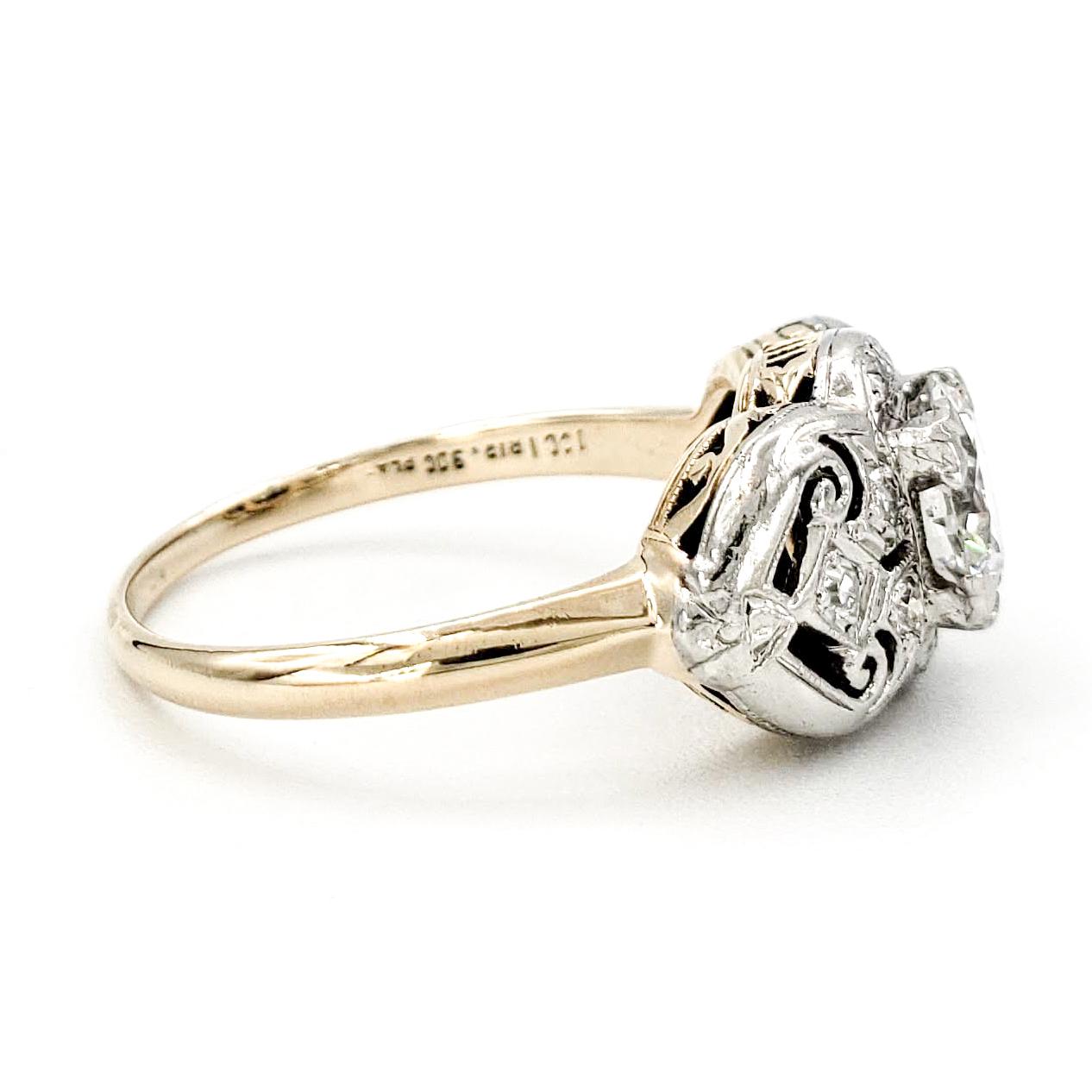 vintage-14-karat-gold-engagement-ring-with-0-67-carat-old-european-cut-diamond-egl-f-vs2