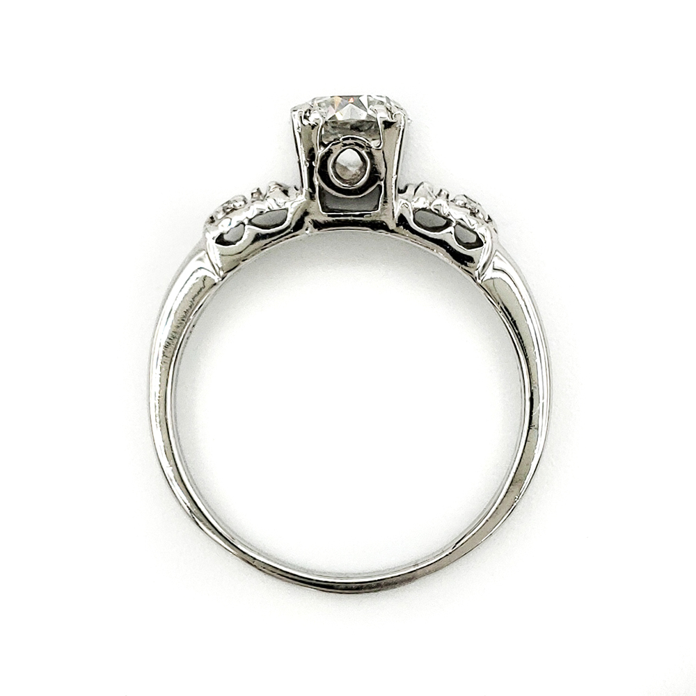 vintage-platinum-engagement-ring-with-0-67-carat-old-european-cut-diamond-egl-h-vs1