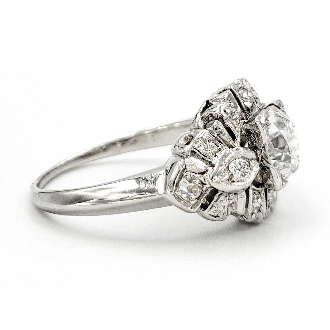 vintage-platinum-engagement-ring-with-0-82-carat-old-european-cut-diamond-egl-f-si1