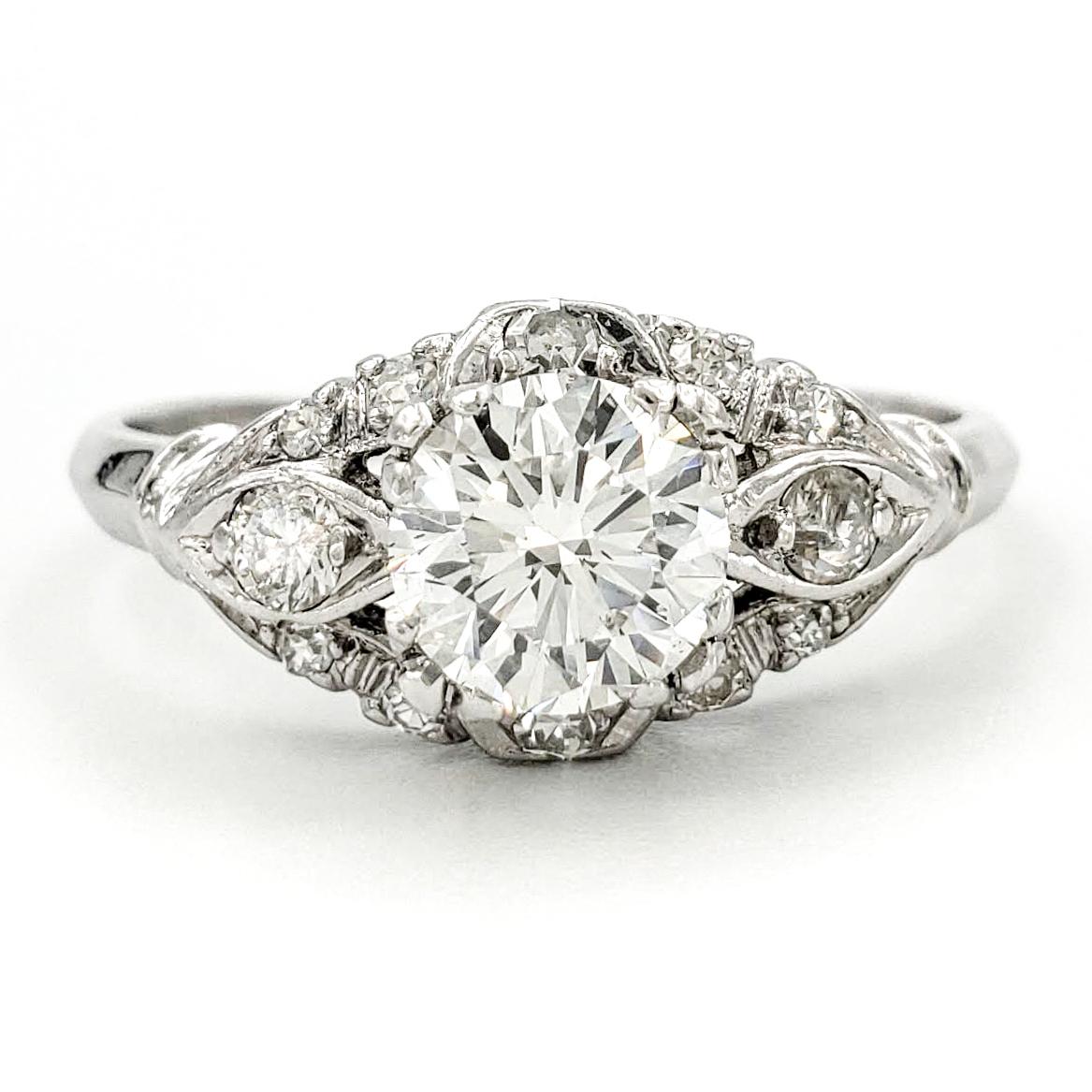 vintage-platinum-engagement-ring-with-1-03-carat-round-brilliant-cut-diamond-egl-f-vs2