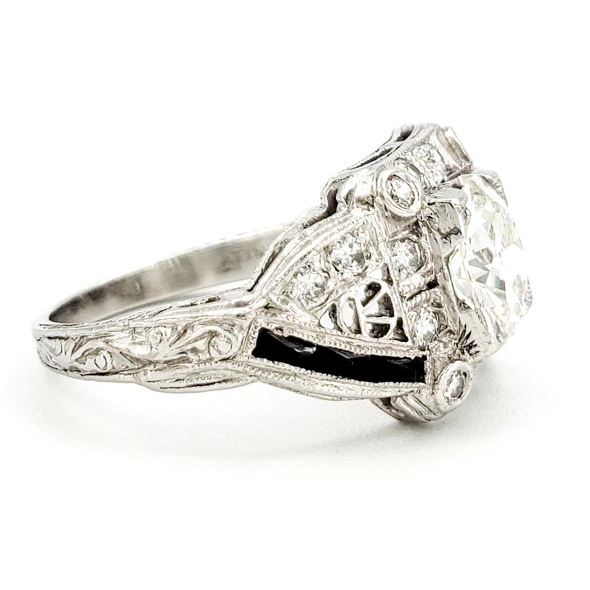 vintage-platinum-engagement-ring-with-0-85-carat-old-european-cut-diamond-egl-h-vs2