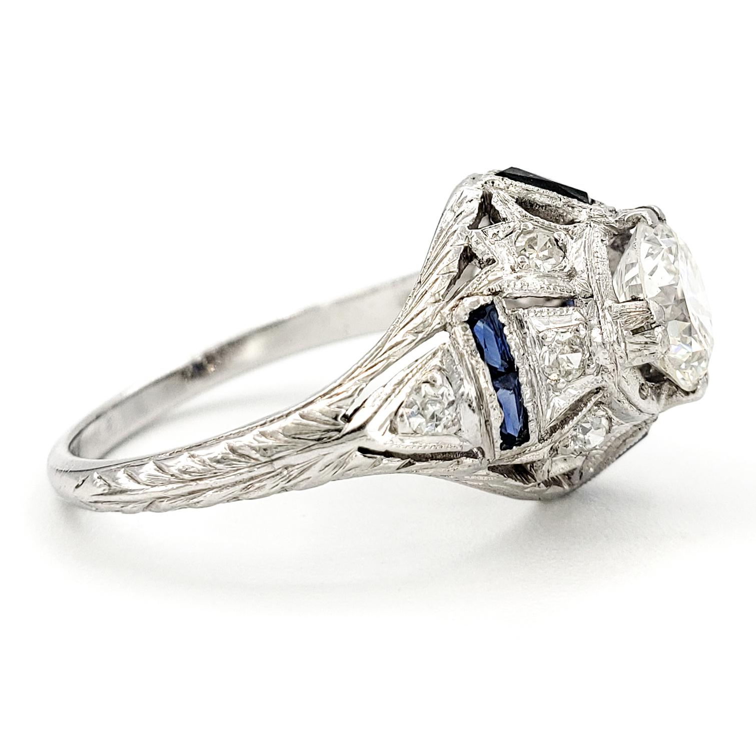vintage-platinum-engagement-ring-with-0-93-carat-old-european-cut-diamond-egl-h-vs1-2