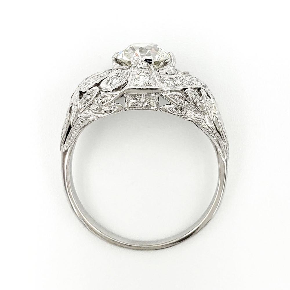 vintage-platinum-engagement-ring-with-0-90-carat-old-european-cut-diamond-egl-h-si1