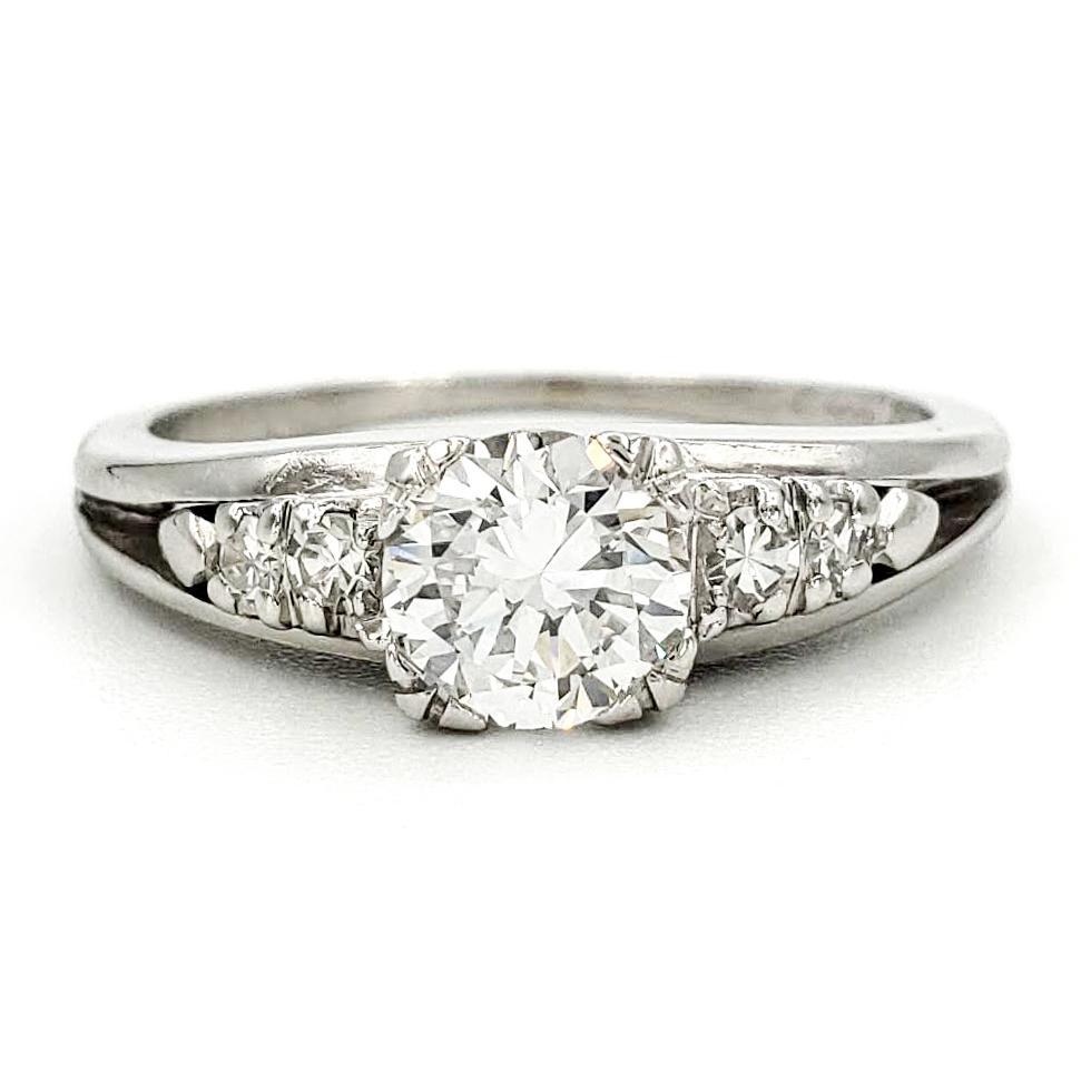 vintage-platinum-engagement-ring-with-0-67-carat-old-european-cut-diamond-egl-f-vs1