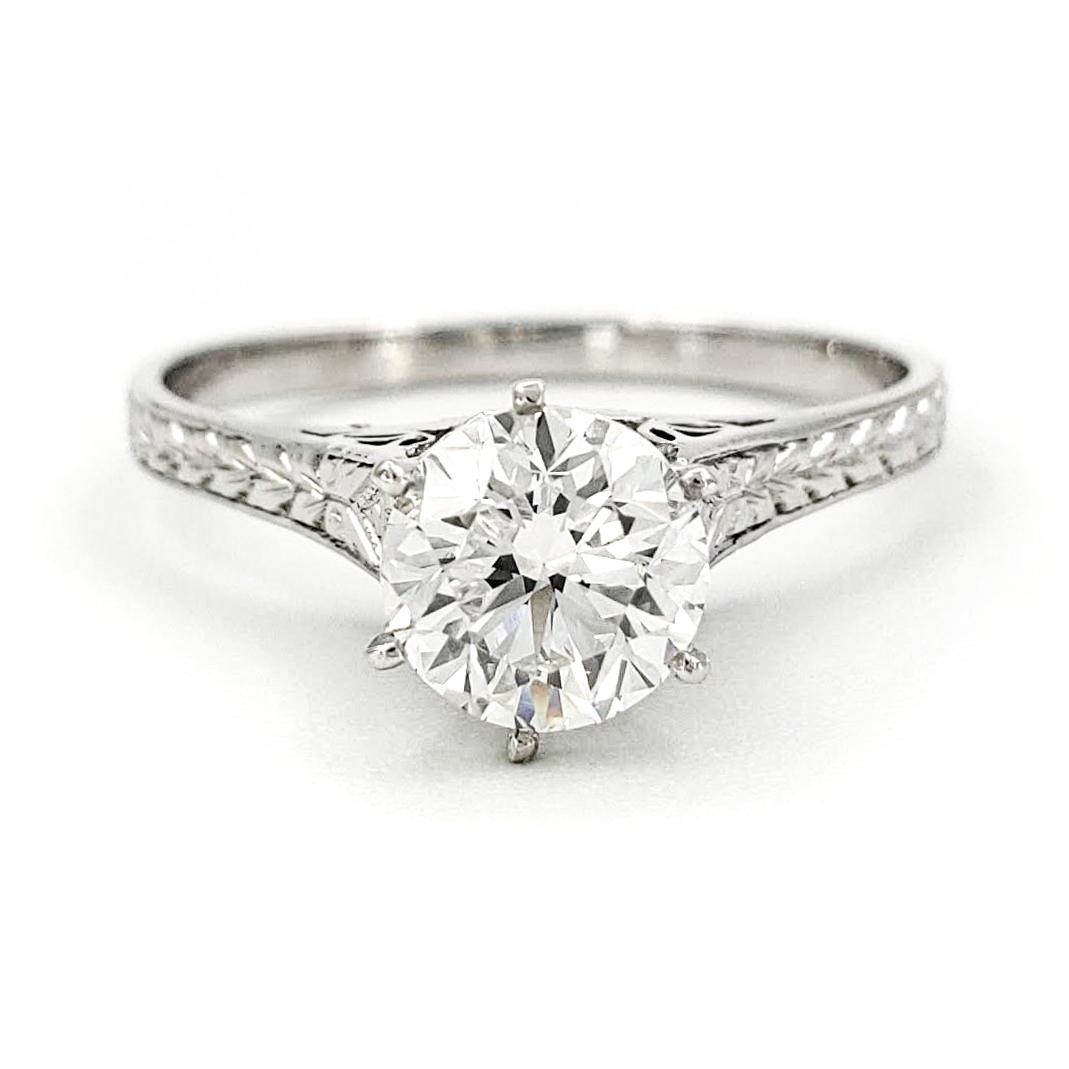 vintage-platinum-engagement-ring-with-0-91-carat-old-european-cut-diamond-egl-f-vs1