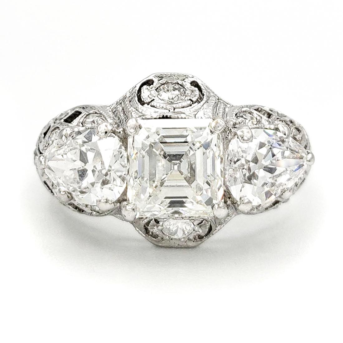 vintage-platinum-engagement-ring-with-1-27-carat-asscher-cut-diamond-egl-h-vs2