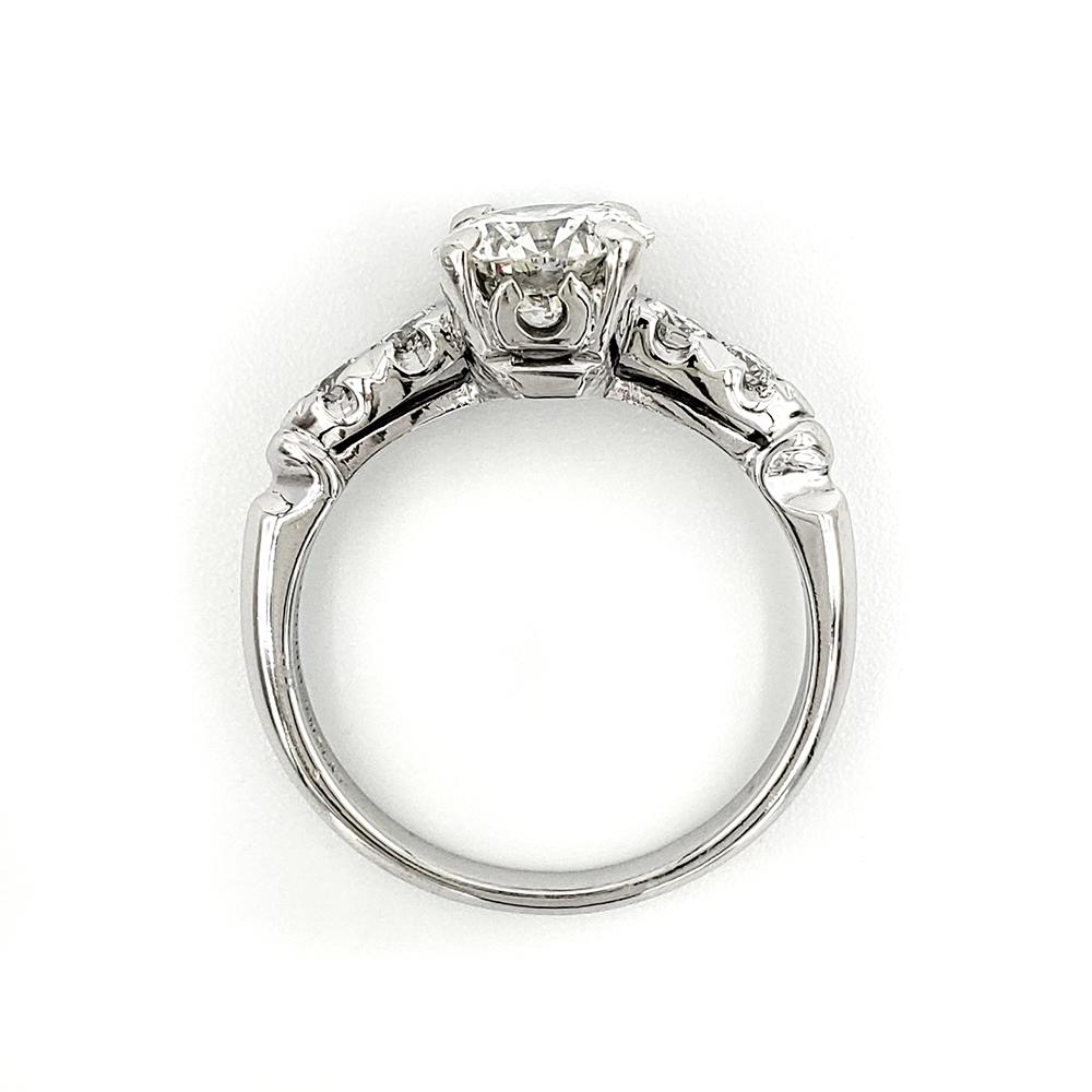 vintage-platinum-engagement-ring-with-1-17-carat-round-brilliant-cut-diamond-egl-g-si1
